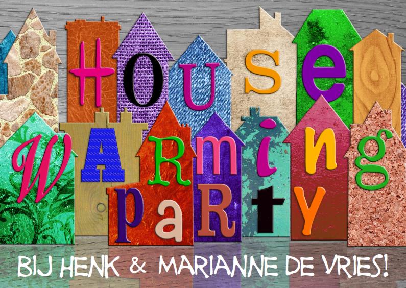 Uitnodigingen - Housewarming Party, Tijd voor...