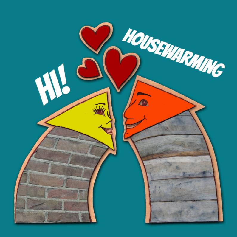 Uitnodigingen - Housewarming verliefde huisjes