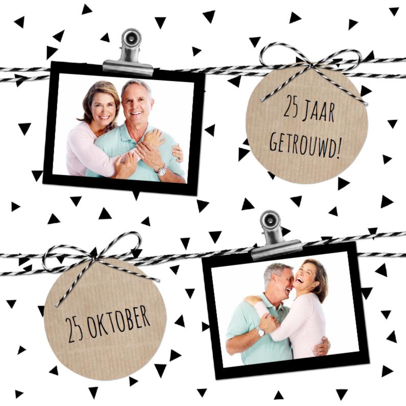 Uitnodigingen - Huwelijk driehoekjes confetti