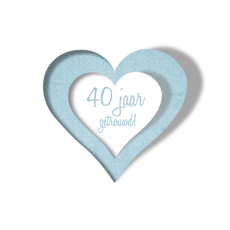 Uitnodigingen - Huwelijks jubileum 3-Hart
