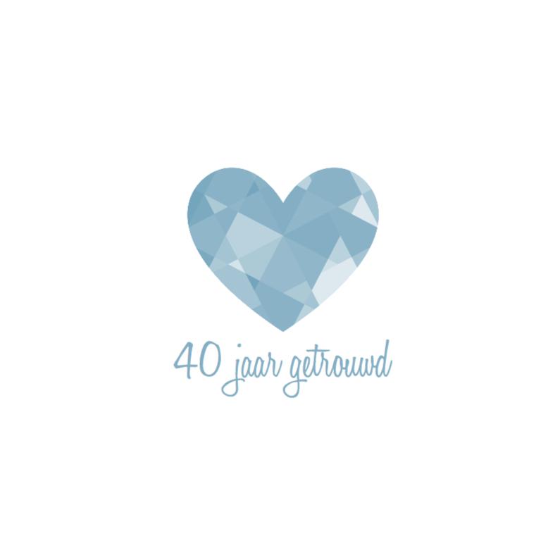 Uitnodigingen - Huwelijks jubileum Diamant