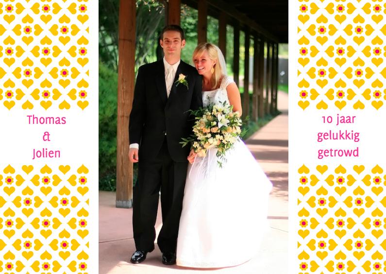 Uitnodigingen - Huwelijks jubileumkaart oranje