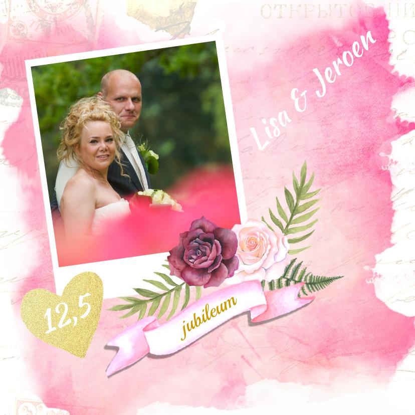 Uitnodigingen - huwelijksjubileum aquarel