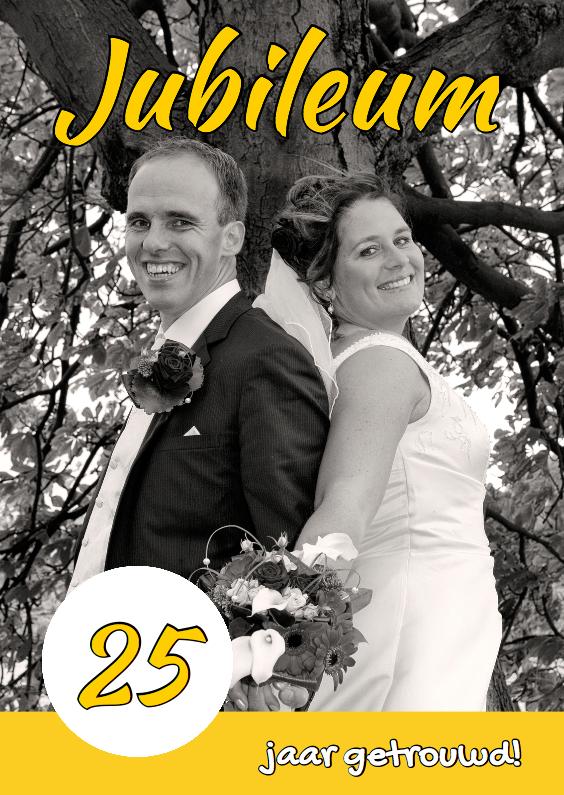 Uitnodigingen - Huwelijksjubileum eigen foto 1 - OT