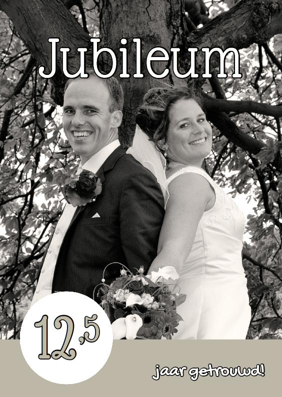 Uitnodigingen - Huwelijksjubileum eigen foto 2 - OT