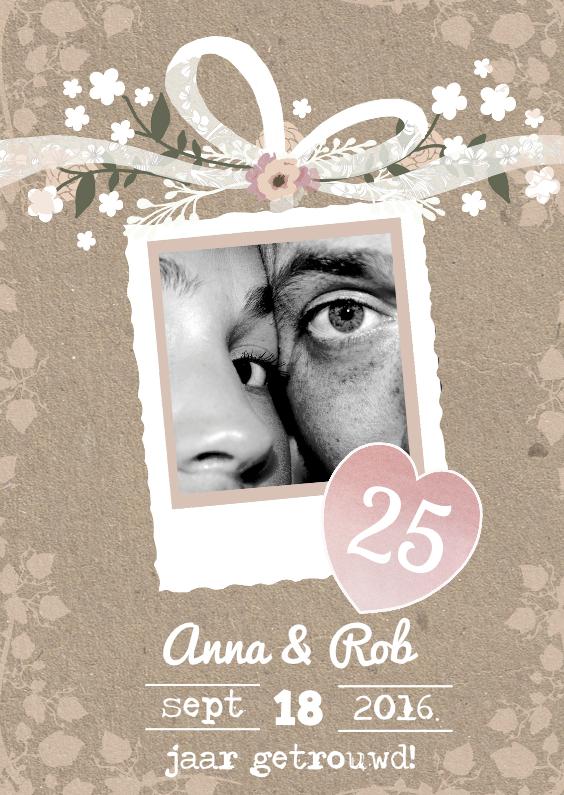Uitnodigingen - Huwelijksjubileum foto romance