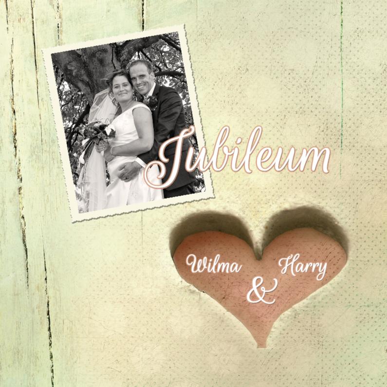 Uitnodigingen - Huwelijksjubileum hart xx jaar