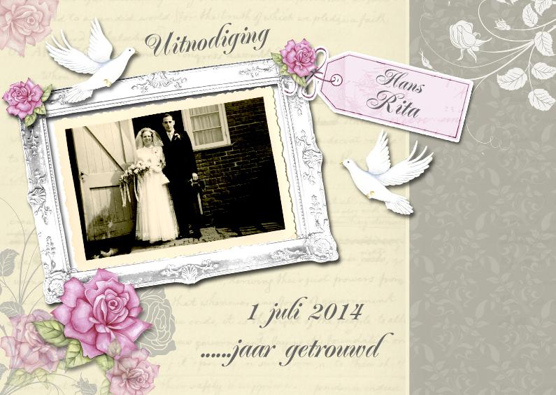 Uitnodigingen - huwelijksjubileum jaar getrouwd