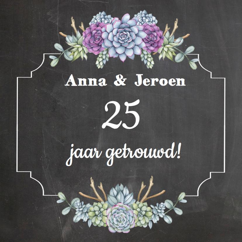 Uitnodigingen - Huwelijksjubileum vetplantjes