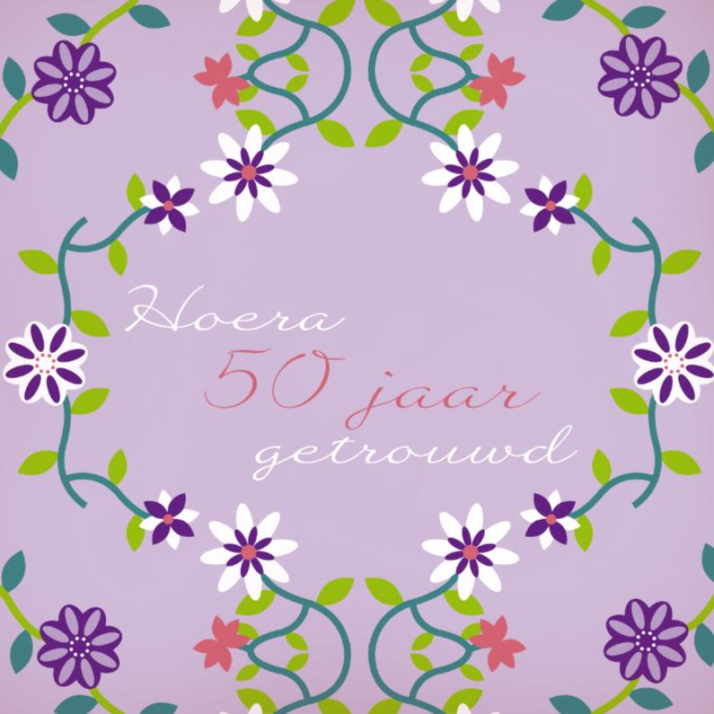 Uitnodigingen - Jubileum bloemen 5