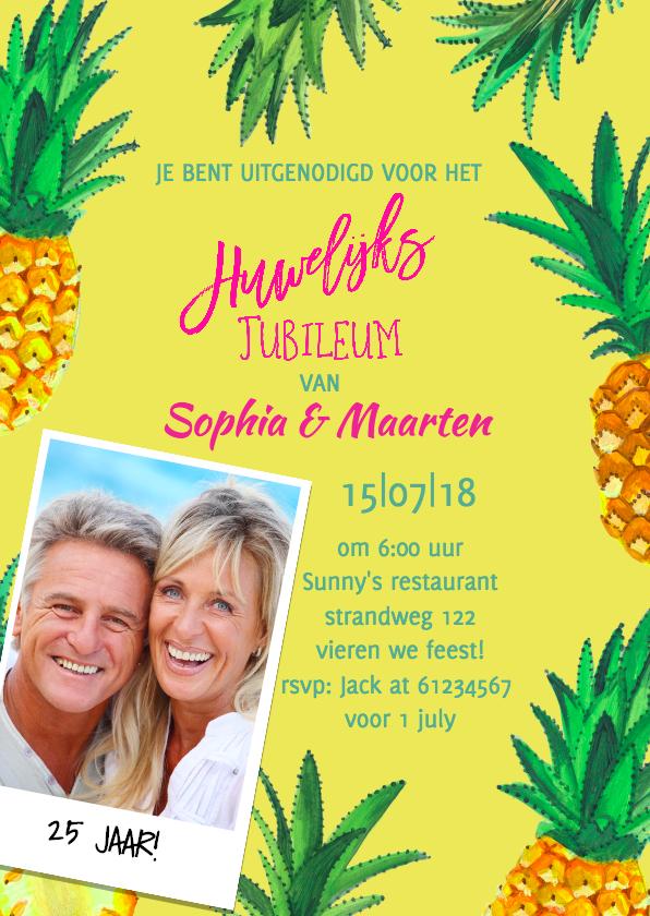 Uitnodigingen - Jubileum Huwelijk Zomerfeest