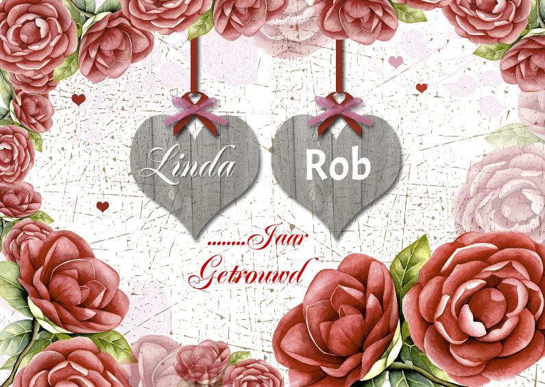 Uitnodigingen - jubileum rozen