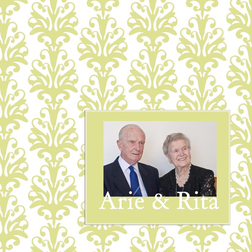 Uitnodigingen - Jubileumkaart met foto goud