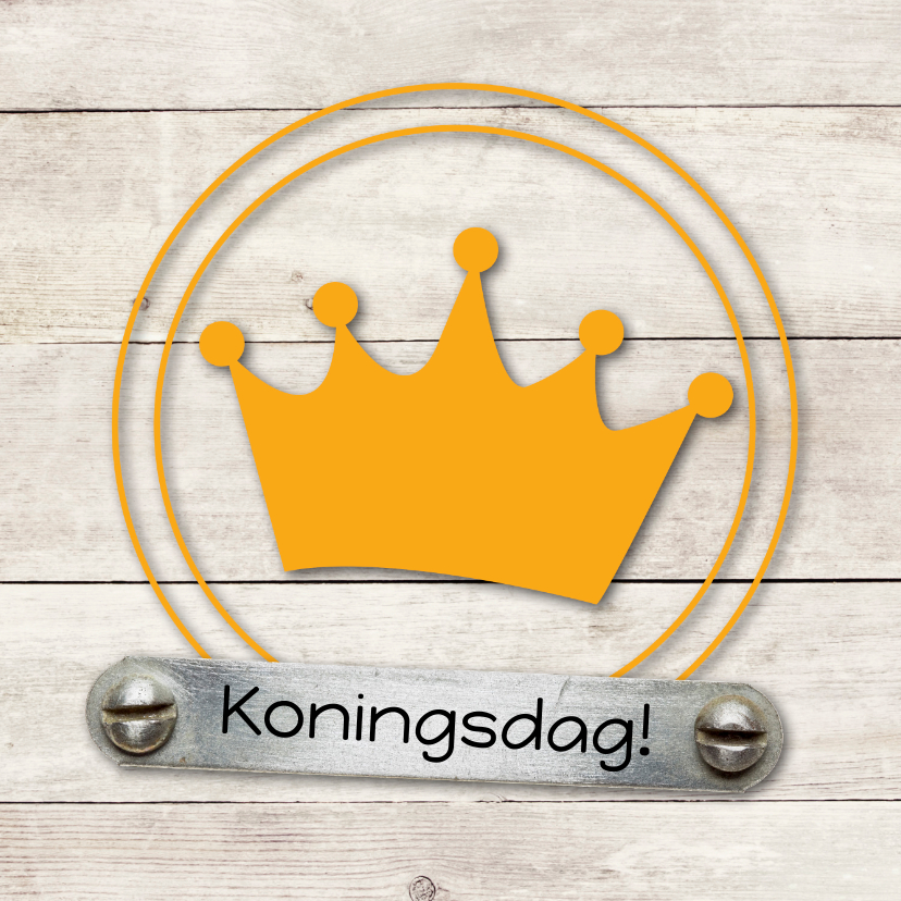 Uitnodigingen - Kaart koningsdag no.2