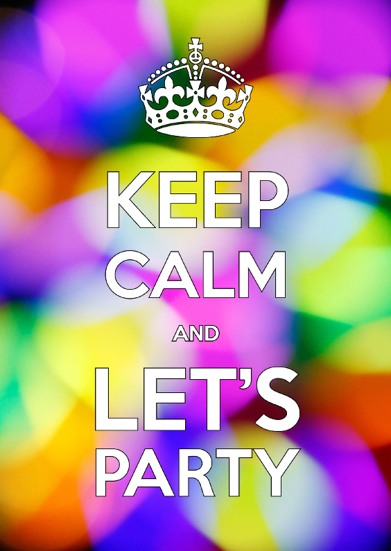 Uitnodigingen - Keep Calm and Let's Party - OT