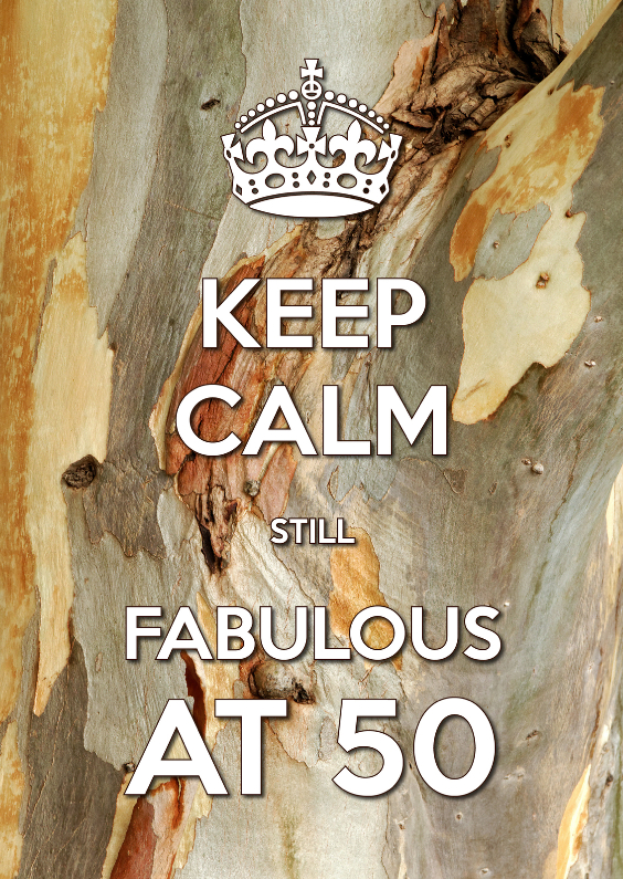 Uitnodigingen - Keep Calm Fabulous at 50