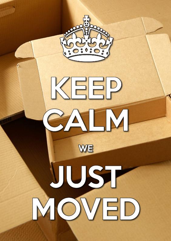 Uitnodigingen - Keep Calm - Moved Housewarming - OT