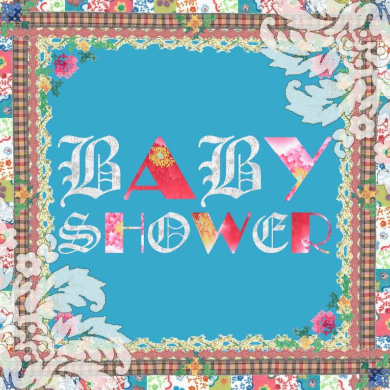 Uitnodigingen - KendieKaart-Babyshower-Patchy