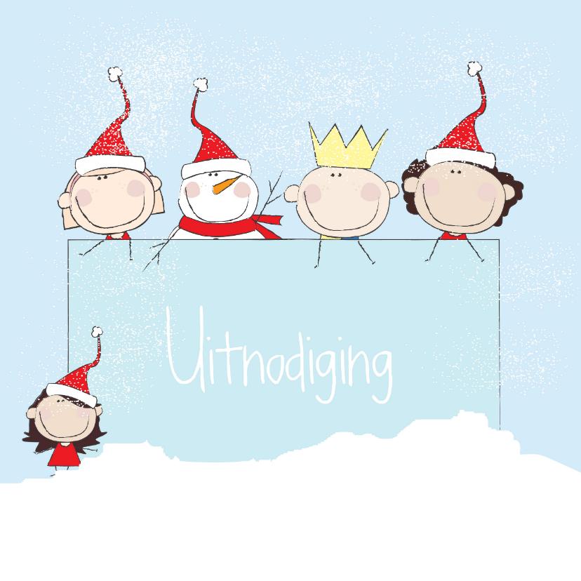 Uitnodigingen - Kerst uitnodiging Illustratie