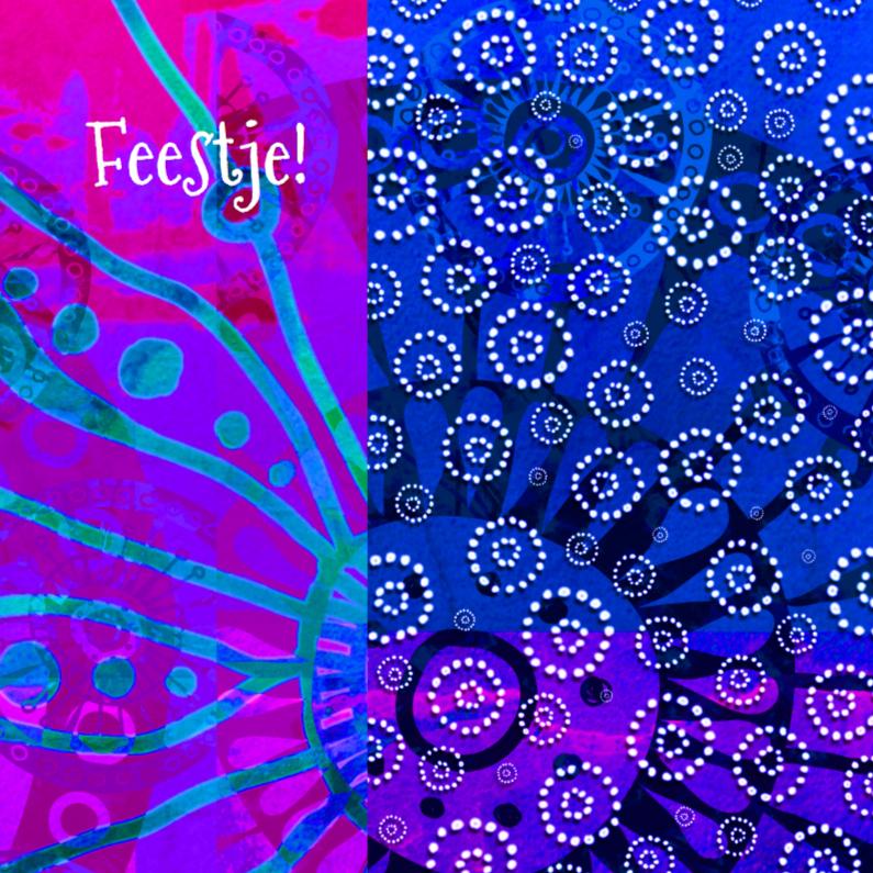 Uitnodigingen - Kleurrijke, decoratieve uitnodiging
