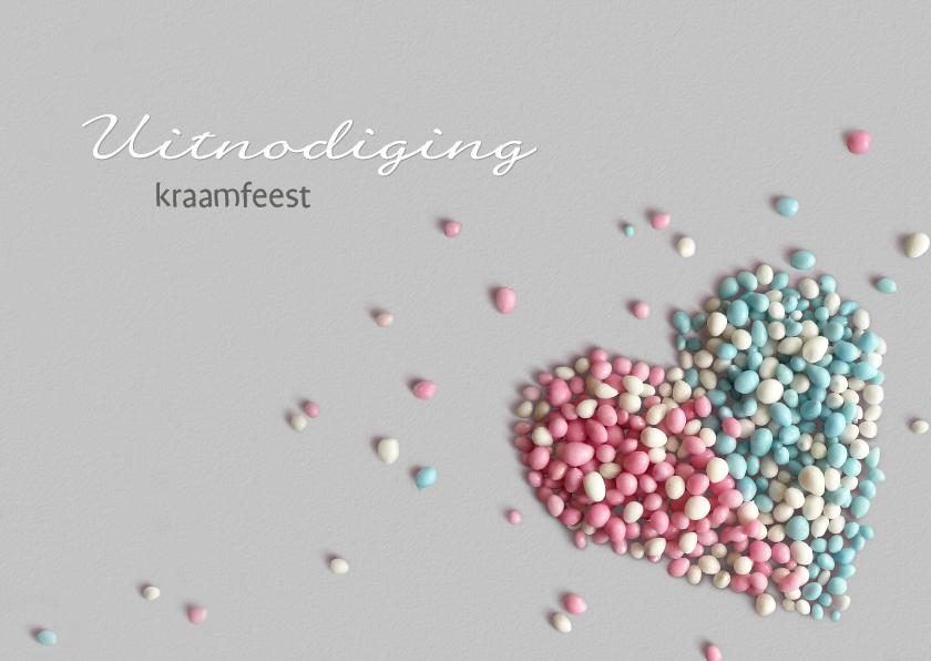 Uitnodigingen - Kraamfeest Muizenhart twin 2