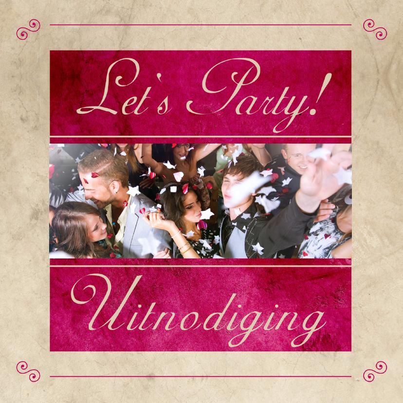 Uitnodigingen - Let's Party! Uitnodiging - BK
