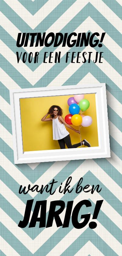 Uitnodigingen - Leuke uitnodigingskaart verjaardag met foto