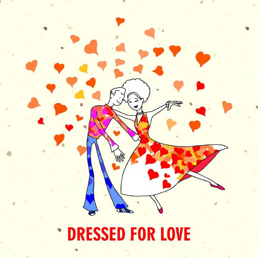 Uitnodigingen - Liefde grappig Dressed for Love