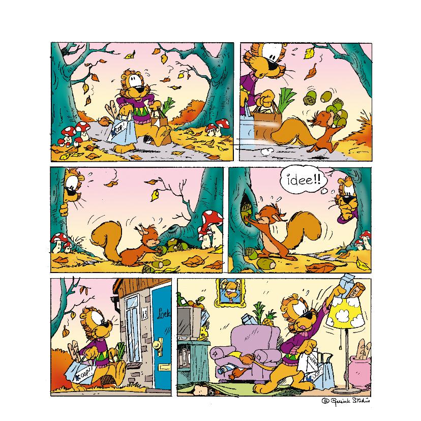 Uitnodigingen - Loeki strip hamsteren - A