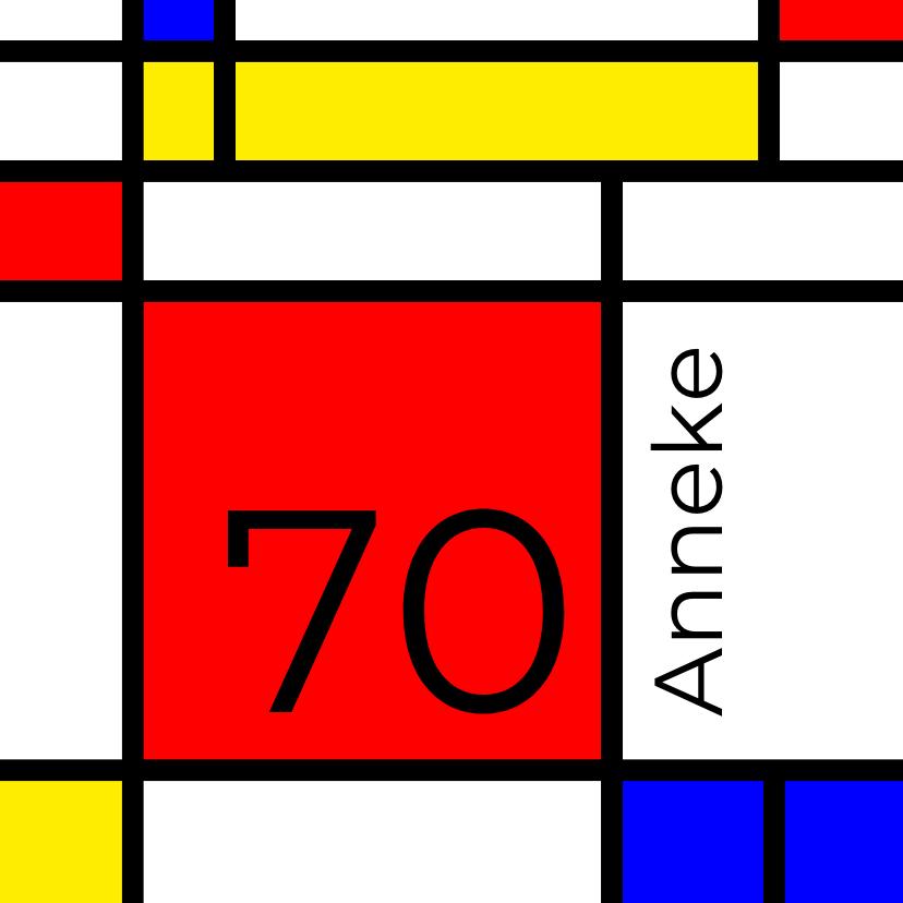 Uitnodigingen - Mondriaan 70 jaar