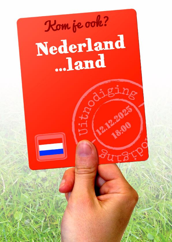 Uitnodigingen - Nederland tegen ... - BK