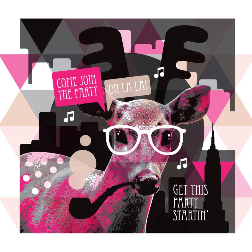 Uitnodigingen - New york hipster hert uitnodiging