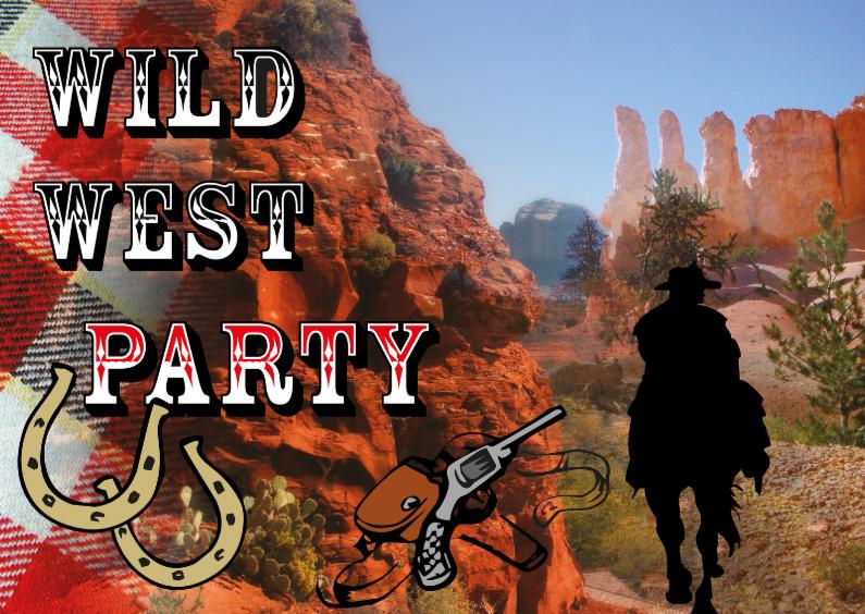Uitnodigingen - nr27-themafeest-WildWest