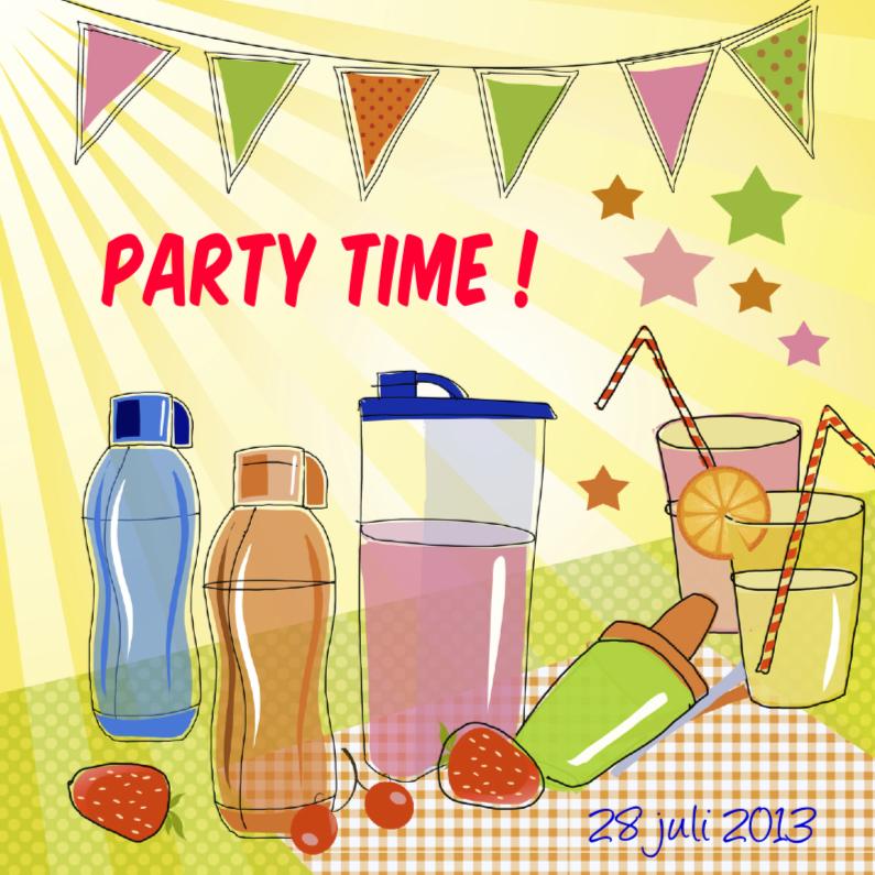Uitnodigingen - Party Time voor je tuinfeest