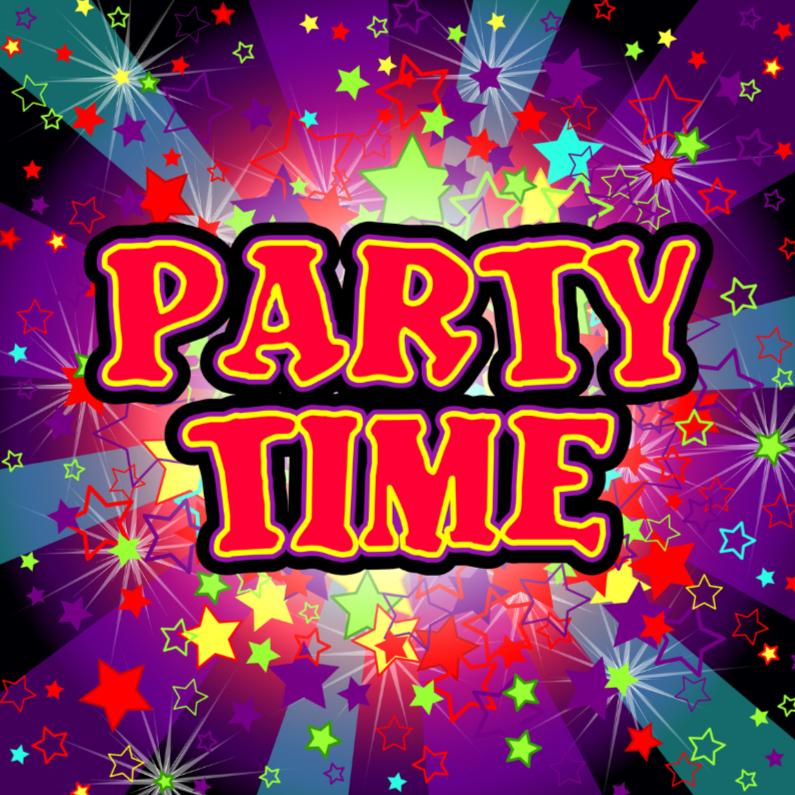 Uitnodigingen - PARTY TIME vrolijke uitnodiging STERREN
