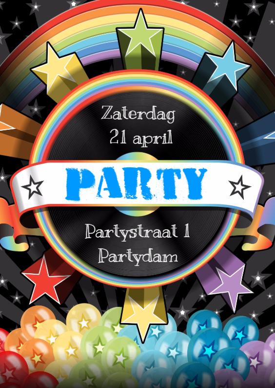 Uitnodigingen - PARTY ubercoole uitnodiging