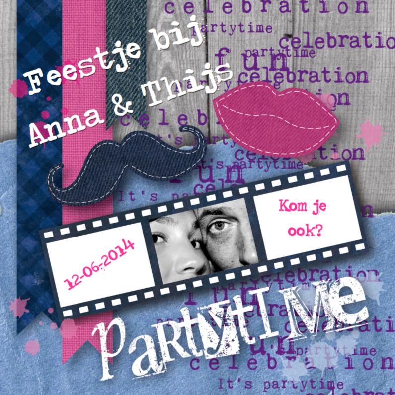 Uitnodigingen - Partytime Man & Vrouw