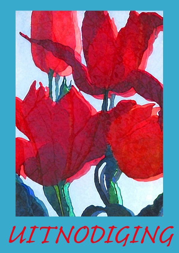 Uitnodigingen - Rode tulpen Uitnodiging