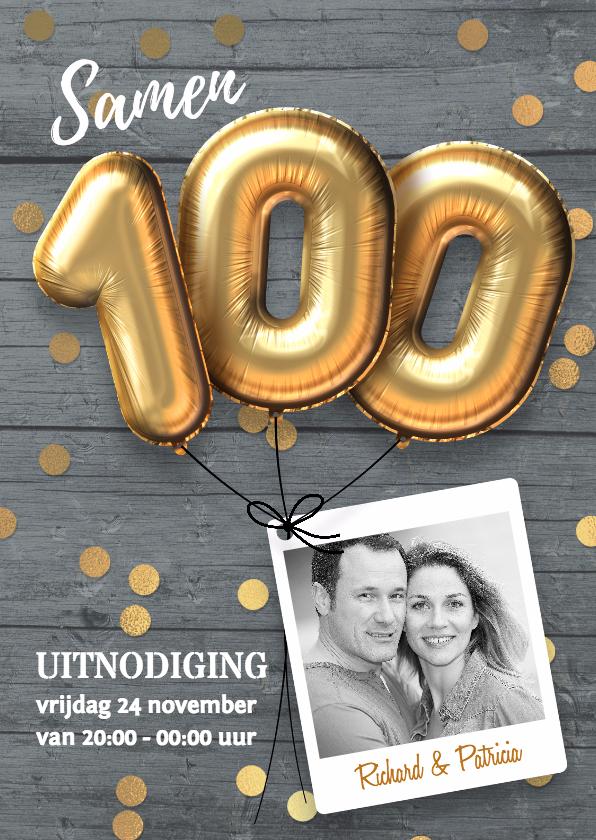 Uitnodigingen - Samen 100 jaar uitnodiging