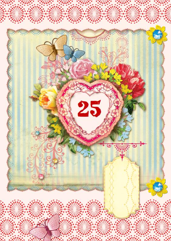 Uitnodigingen - Scrapbook Jubileum Kaart 25