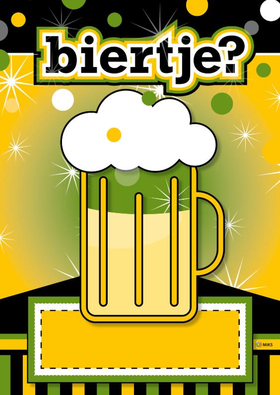 Uitnodigingen - stoer biertje 01