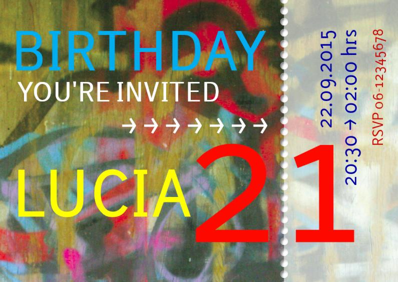 Uitnodigingen - ticket 21 jaar