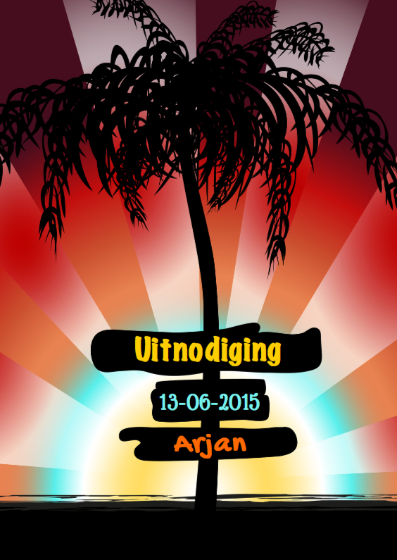 Uitnodigingen - Tropische uitnodiging strand
