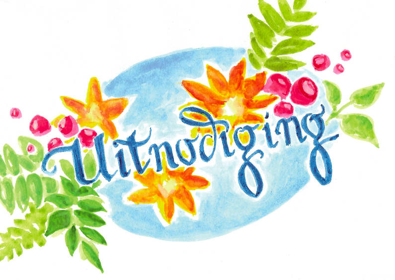 Tuinfeest uitnodiging 1