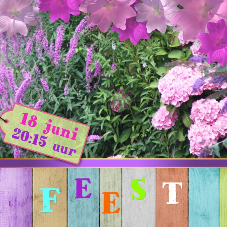 Uitnodigingen - Tuinfeest zelf afmaken