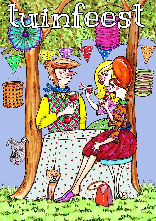 Uitnodigingen - tuinfeestje boomgaard