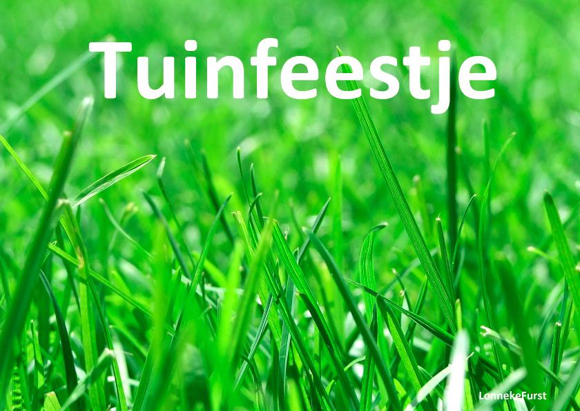 Uitnodigingen - Tuinfeestje tuinfeest buiten feest- bbq
