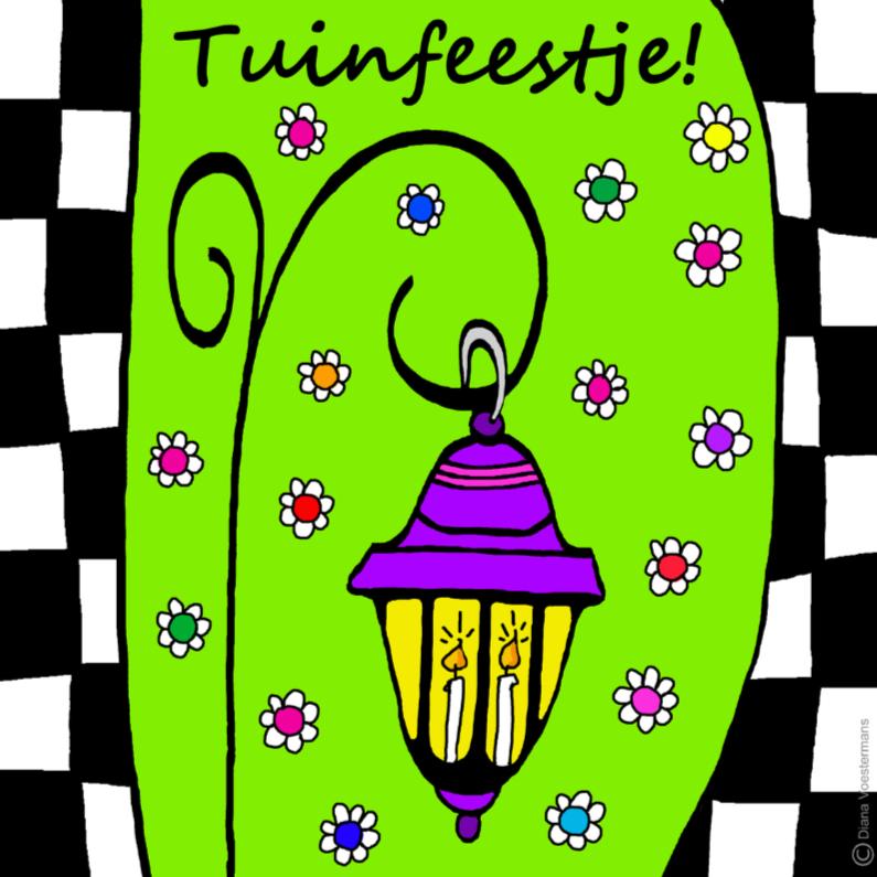 Uitnodigingen - Tuinfeestje