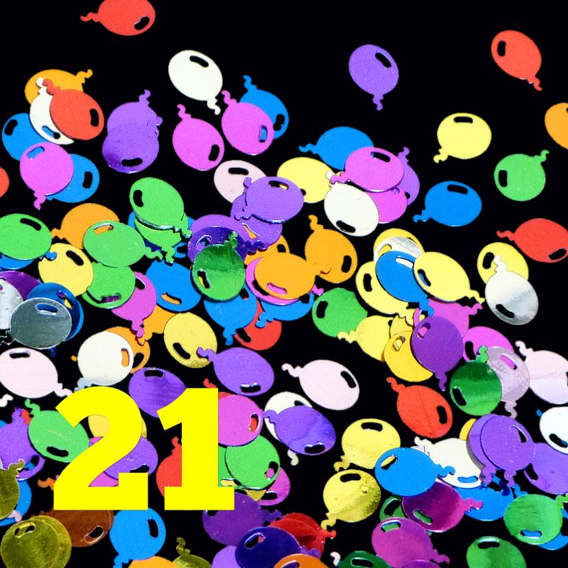 Uitnodigingen - Uinodiging ballon confetti