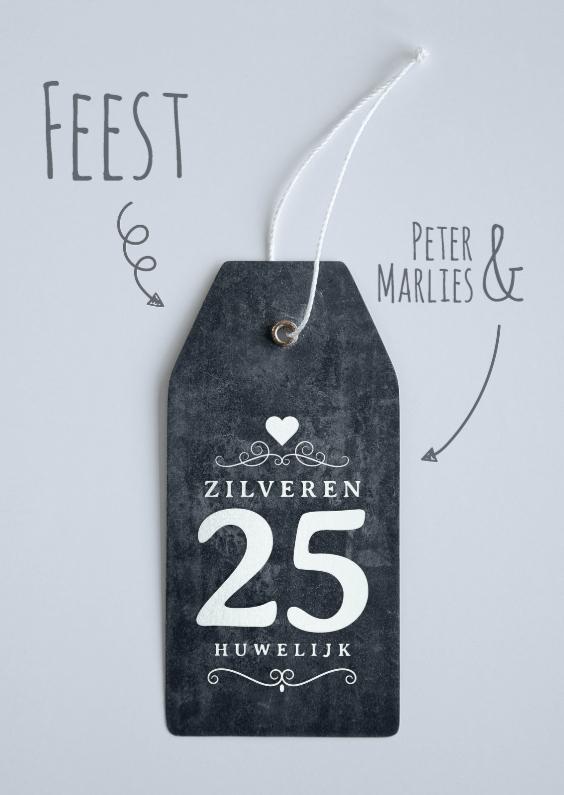 Uitnodigingen - Uitnodiging 25 jaar huwelijk